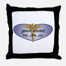 Personalized Nurse Throw Pillow