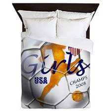 US Soccer Champs 2008 Queen Duvet