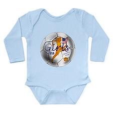 US Soccer Champs 2008 Long Sleeve Infant Bodysuit