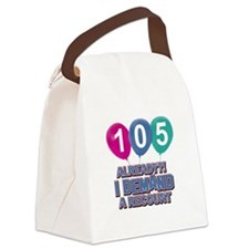 105 year old ballon designs Canvas Lunch Bag