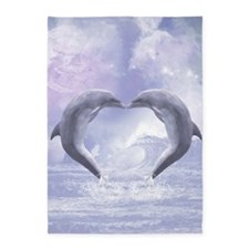 Dolphins Kisses 5'x7'Area Rug