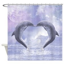 Dolphins Kisses Shower Curtain