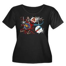 Neuron cell Plus Size T-Shirt
