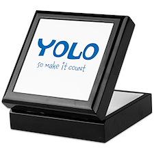 YOLO - teal Keepsake Box