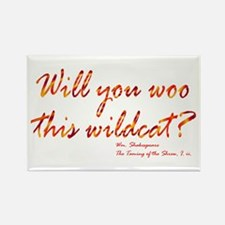 Shakespeare - Woo This Wildcat Rectangle Magnet