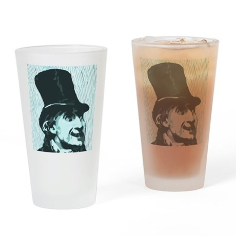 Top hat fool Drinking Glass