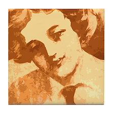 Vintage gal Love Tile Coaster