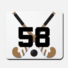 Field Hockey Number 58 Mousepad