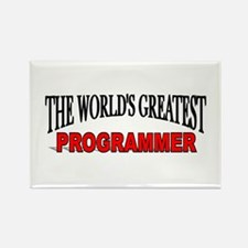 """The World's Greatest Programmer"" Rectangle Magnet"