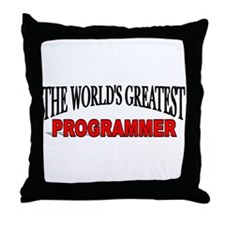 """The World's Greatest Programmer"" Throw Pillow"