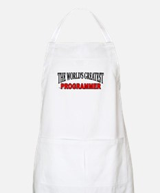 """The World's Greatest Programmer"" BBQ Apron"