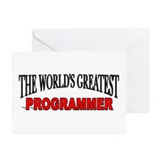 """""""The World's Greatest Programmer"""" Greeting Cards ("""