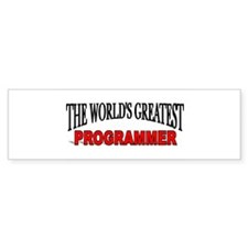 """The World's Greatest Programmer"" Bumper Bumper Sticker"