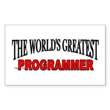 """""""The World's Greatest Programmer"""" Decal"""