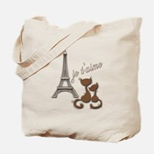 Chocolate Brown I Love Paris Eiffel Tower Cats Tot