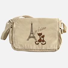 Chocolate Brown I Love Paris Eiffel Tower Cats Mes