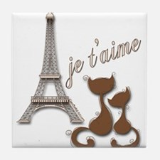 Chocolate Brown I Love Paris Eiffel Tower Cats Til