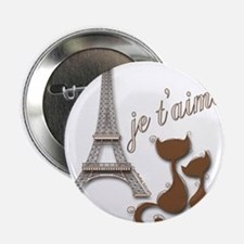 Chocolate Brown I Love Paris Eiffel Tower Cats 2.2