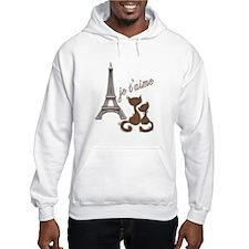 Chocolate Brown I Love Paris Eiffel Tower Cats Hoo
