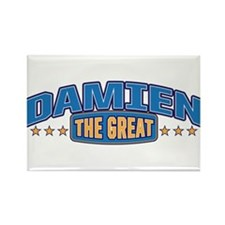 The Great Damien Rectangle Magnet