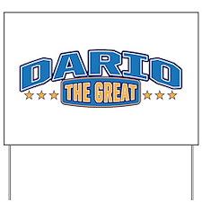 The Great Dario Yard Sign
