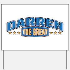 The Great Darren Yard Sign