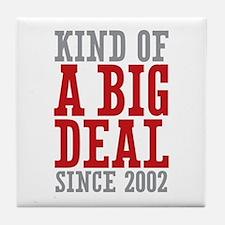 Kind of a Big Deal Since 2002 Tile Coaster