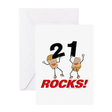 21 Rocks Greeting Card