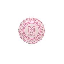 Pink Monogram Mini Button (10 pack)
