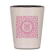 Pink Monogram Shot Glass