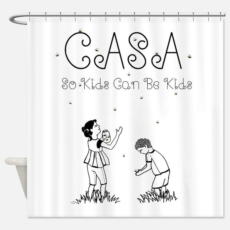 CASA Fireflies Shower Curtain