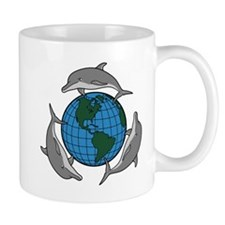 Dolphins and Earth Mug