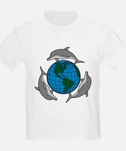 Dolphins and Earth Kids T-Shirt
