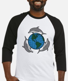 Dolphins and Earth Baseball Jersey