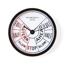 Dieselpunk Engine Room Telegraph Wall Clock