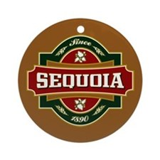 Sequoia Old Label Ornament (Round)