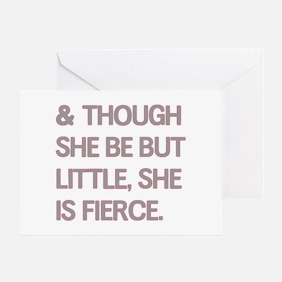 Fierce Greeting Card