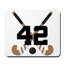 Field Hockey Number 42 Mousepad