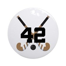 Field Hockey Number 42 Ornament (Round)