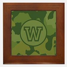 Green Camouflage Framed Tile