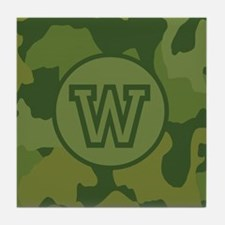 Green Camouflage Tile Coaster