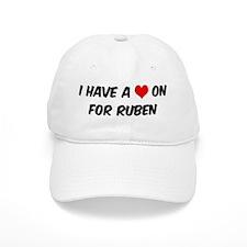 Heart on for Ruben Baseball Cap