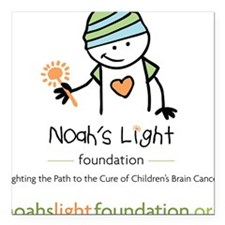 "Noah's Light Foundation Square Car Magnet 3"" x 3"""