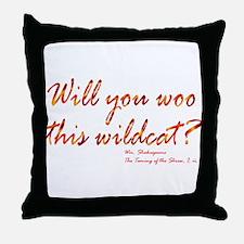 Shakespeare - Woo This Wildcat Throw Pillow