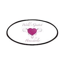 World's Greatest Homeschooler (Heart) Patches