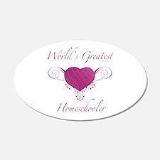 World's Greatest Homeschooler (Heart) Wall Decal