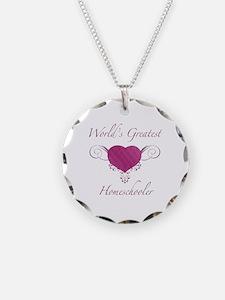 World's Greatest Homeschooler (Heart) Necklace