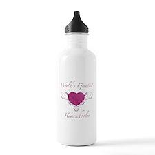World's Greatest Homeschooler (Heart) Sports Water Bottle