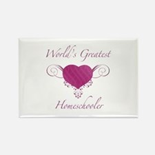 World's Greatest Homeschooler (Heart) Rectangle Ma