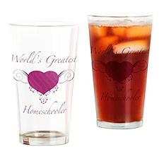 World's Greatest Homeschooler (Heart) Drinking Gla
